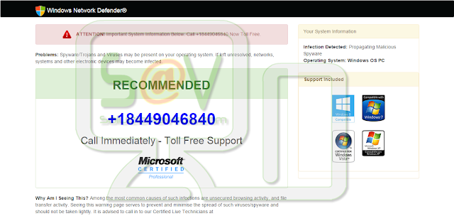Windowsnetrowksecuritycompromised.online pop-ups (Falso soporte)