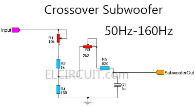 Subwoofer Crossover Circuit Subwoofer Filter Simple Crossover