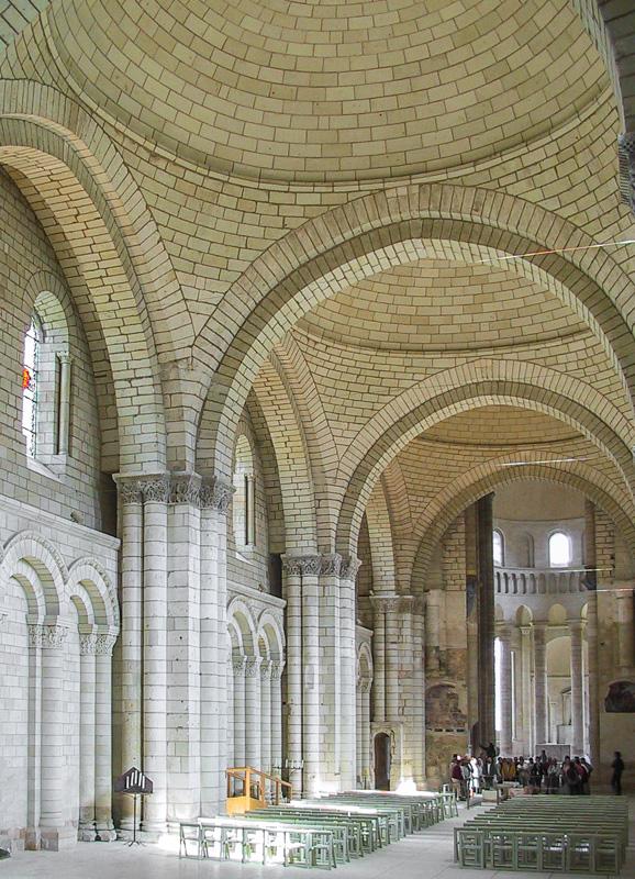 Inside the abbey church