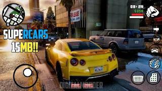 (15MB) SUPERCARS V1 PACK FOR GTA SA ANDROID || NEW CARS MOD ||