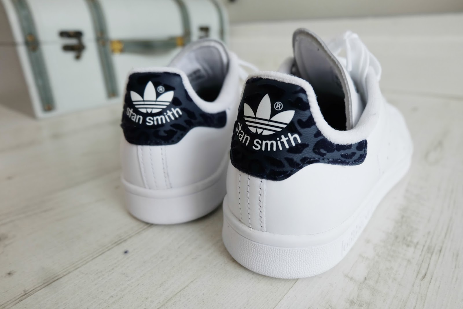 Adidas Stan Smith white and navy leopard print, Adidas Stan Smith white and navy leopard print review
