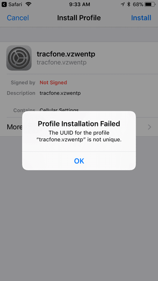 Why not?: iPhone with Tracfone MVNO failing to set APN of another