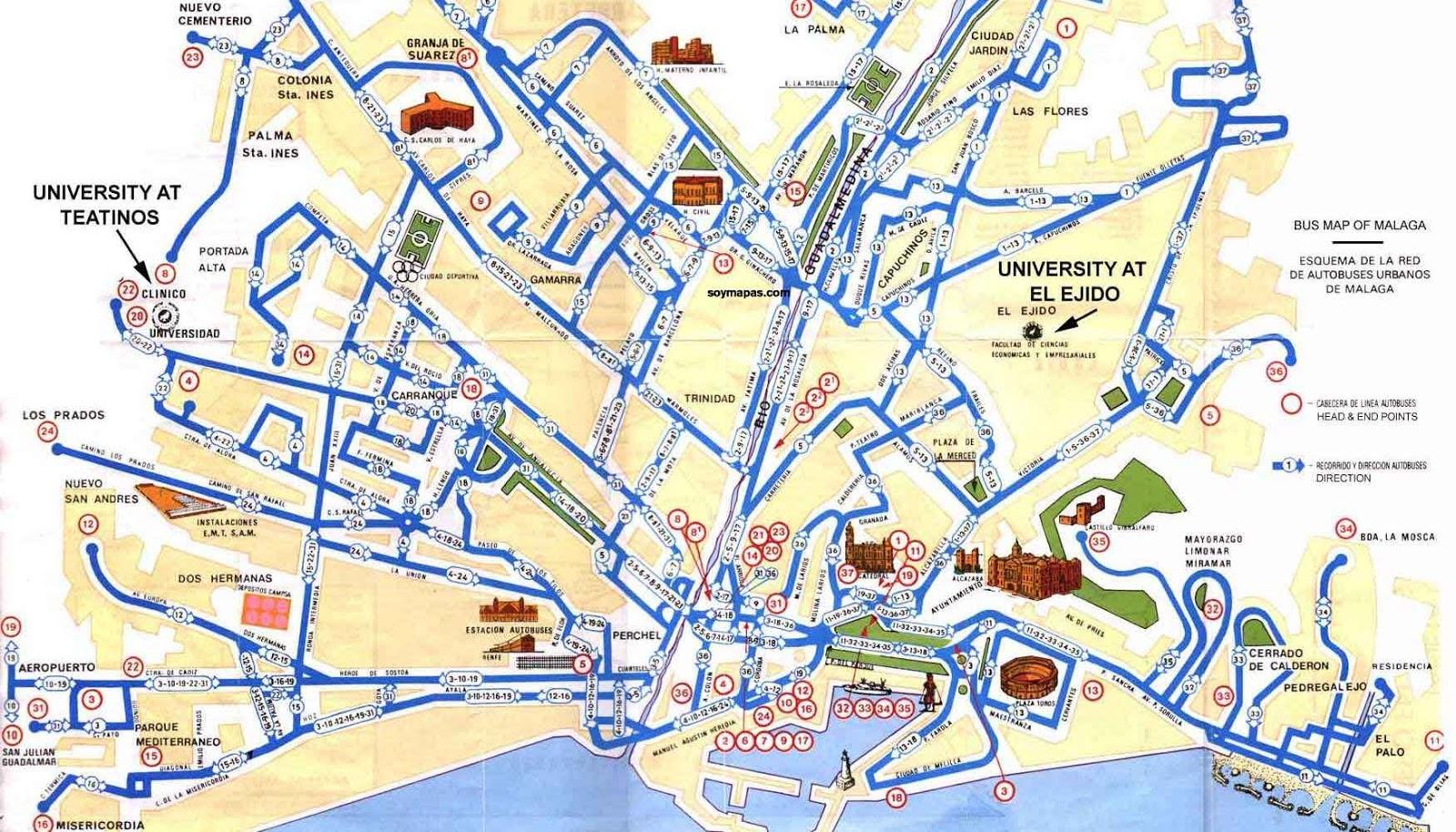 Mapa Callejero De Malaga.El Ceibo Blog De Primero B Callejero O Plano Del Centro De Malaga