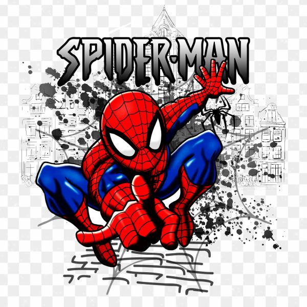 Ilustración Spiderman Dibujo PNG transparente