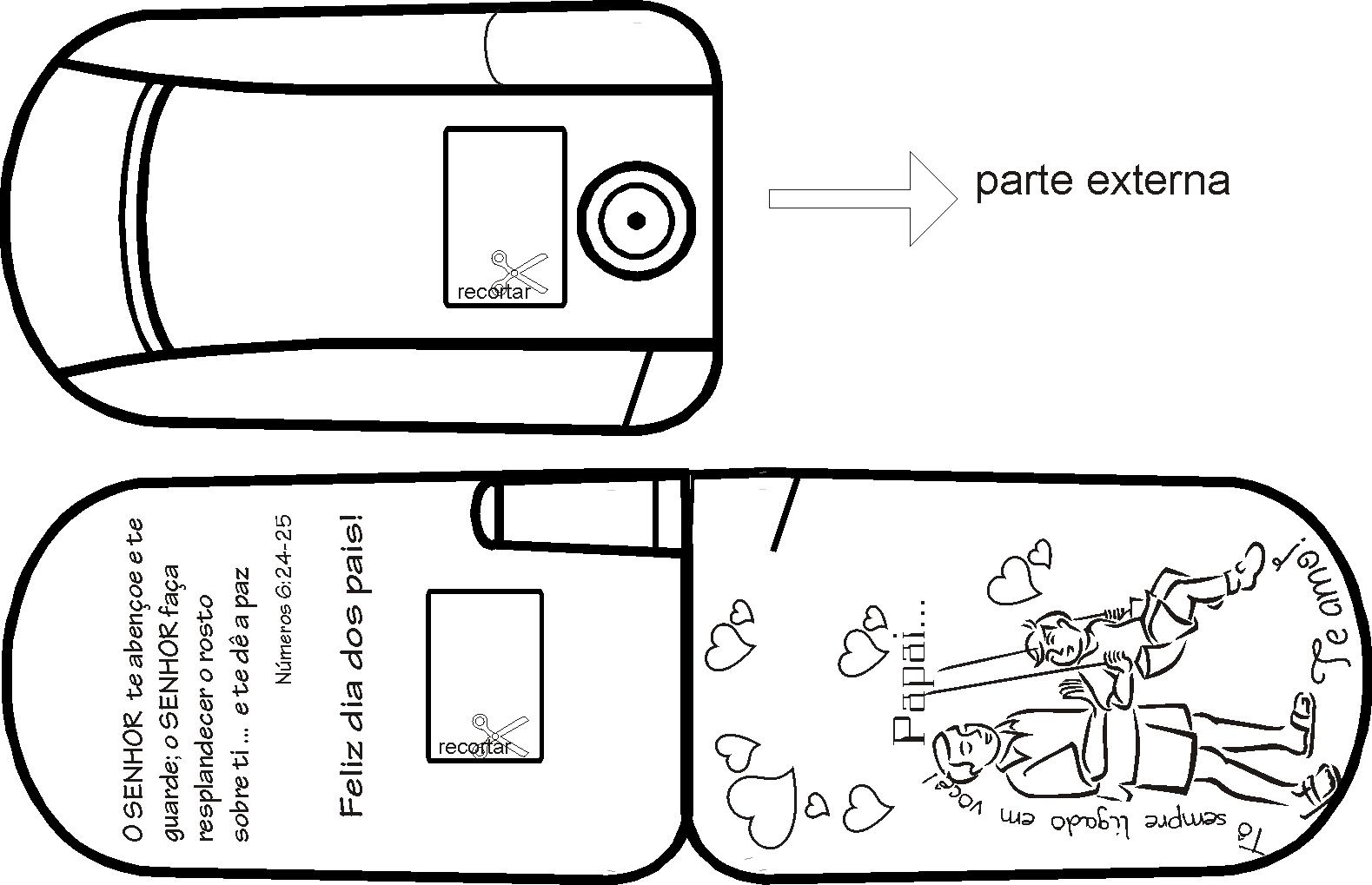 Atividade Para Imprimir: 20 CARTÕES PARA DIA DOS PAIS
