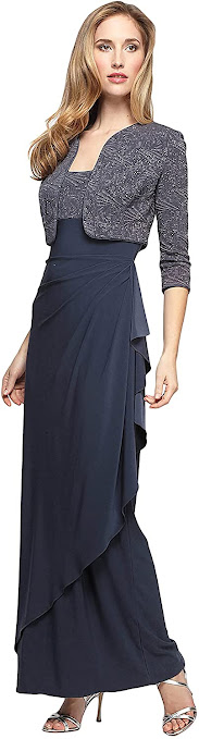 Grey Mother of The Bride Dresses with Jacket