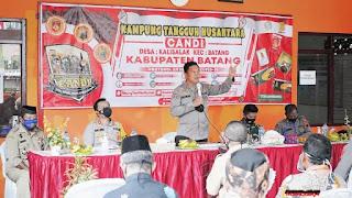 Kabid Humas Polda Jateng Kunjungi Dua Titik Lokasi PPKM Mikro di Batang