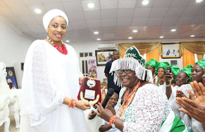 Olori Wuraola Ogunwusi honoured as the Grand Patroness for all market women in Idanre LG