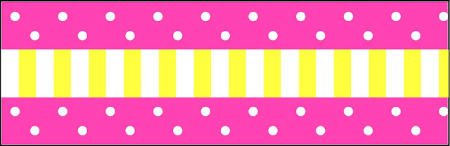 Pink and Yellow Free Printable  Labels.
