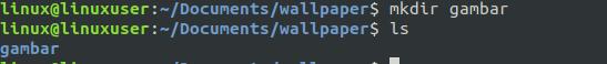 mkdir folder linux