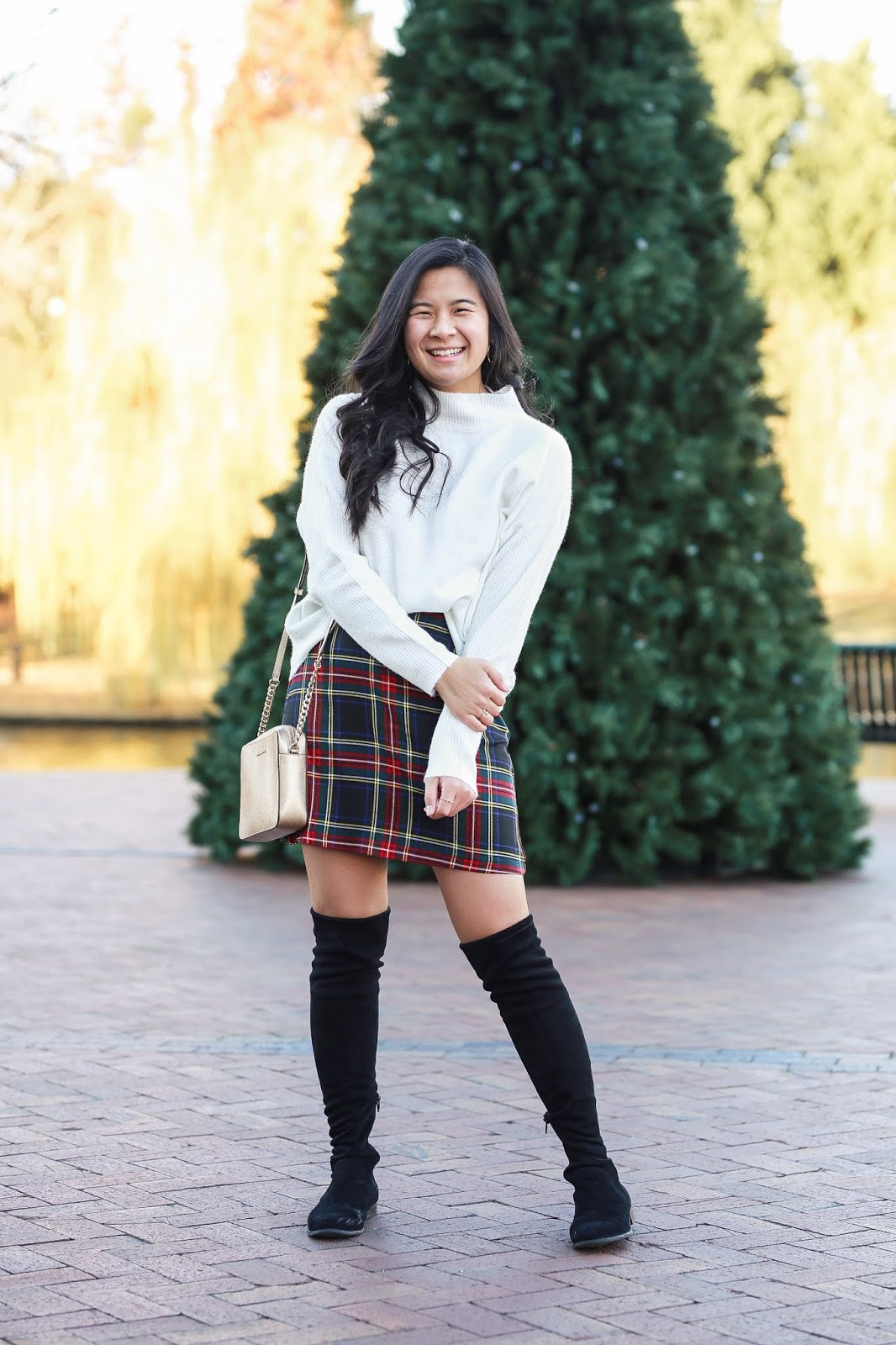 Preppy Plaid Holiday Outift