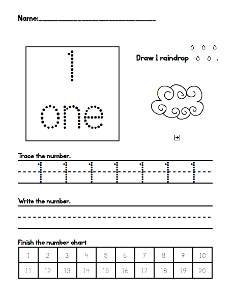 Number Names Worksheets number practice writing : Number Names Worksheets : kindergarten number writing practice ...