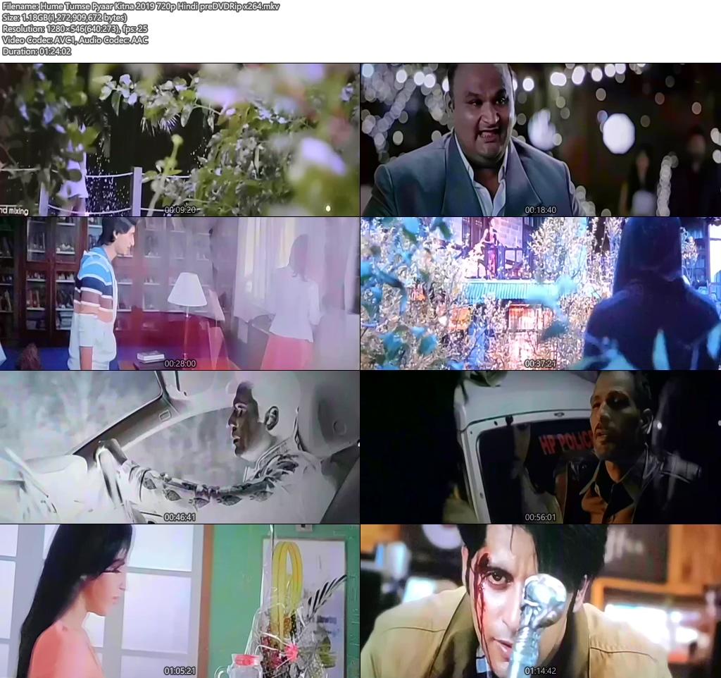 Hume Tumse Pyaar Kitna 2019 720p Hindi preDVDRip x264 | 480p 300MB | 100MB HEVC Screenshot