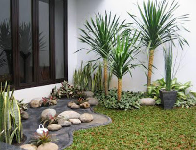 penataan taman depan rumah minimalis sederhana