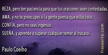 Frases de motivación - Paulo Coelho
