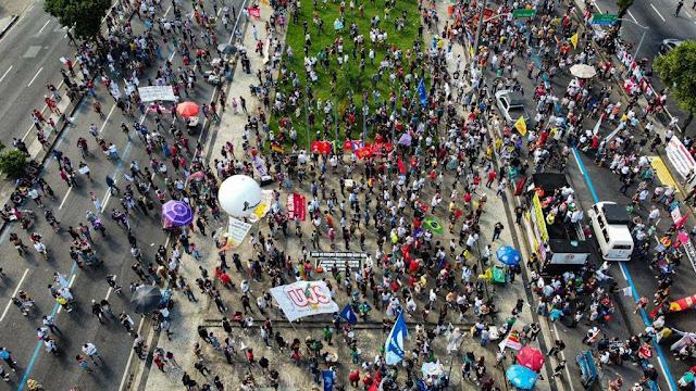 Manifestação no Rio de janeiro. Contra Bolsonaro, 29/05/2021.