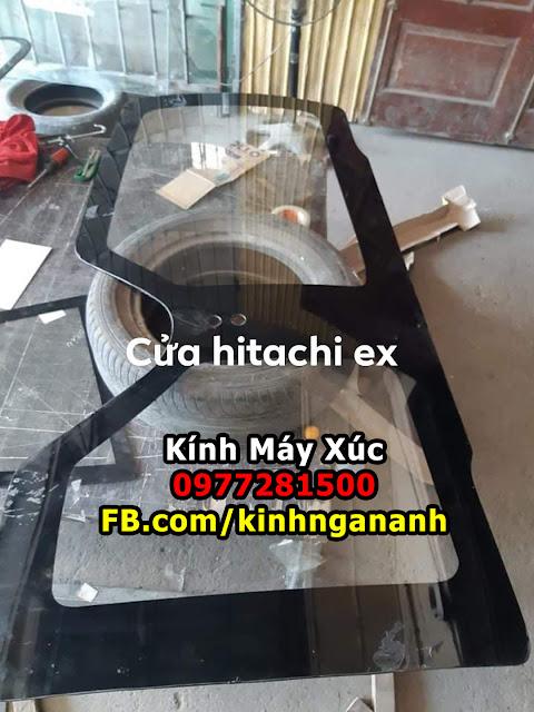 Kính Cửa Máy Xúc Hitachi
