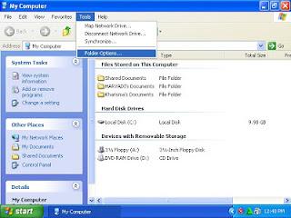 Cara menampilkan folder tersembunyi di windows XP