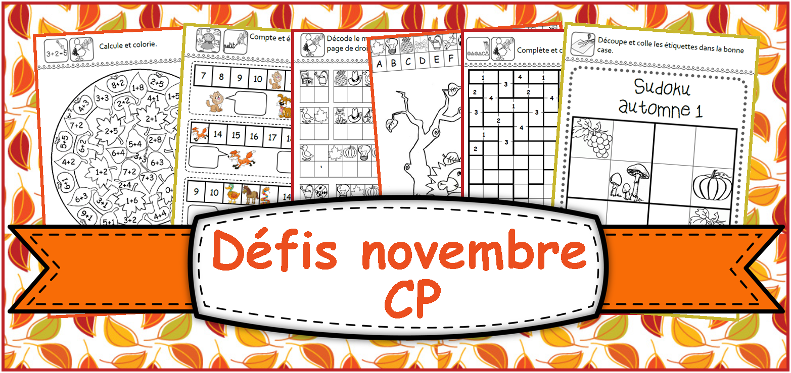 Coloriage Magique Cp N 23.Ipotame Tame Cp Defis Novembre Avec L Automne