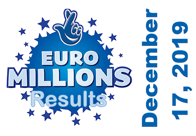 EuroMillions Results for Tuesday, December 17, 2019