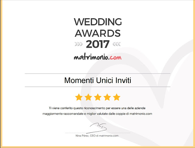 11 Vincitori del premio Wedding Awards 2017Premi
