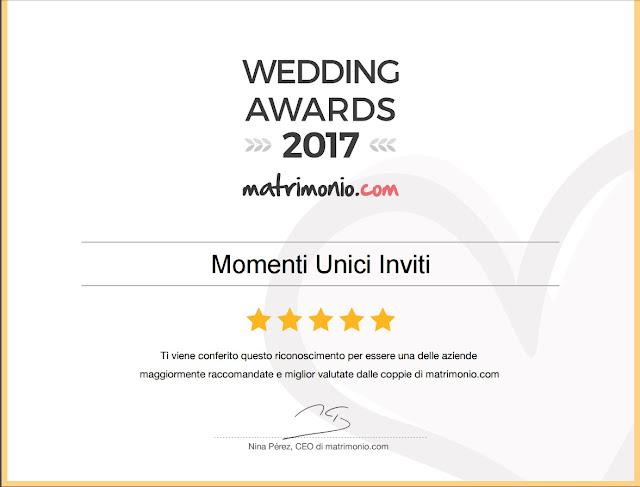 11 Vincitori del premio Wedding Awards 2017Premi