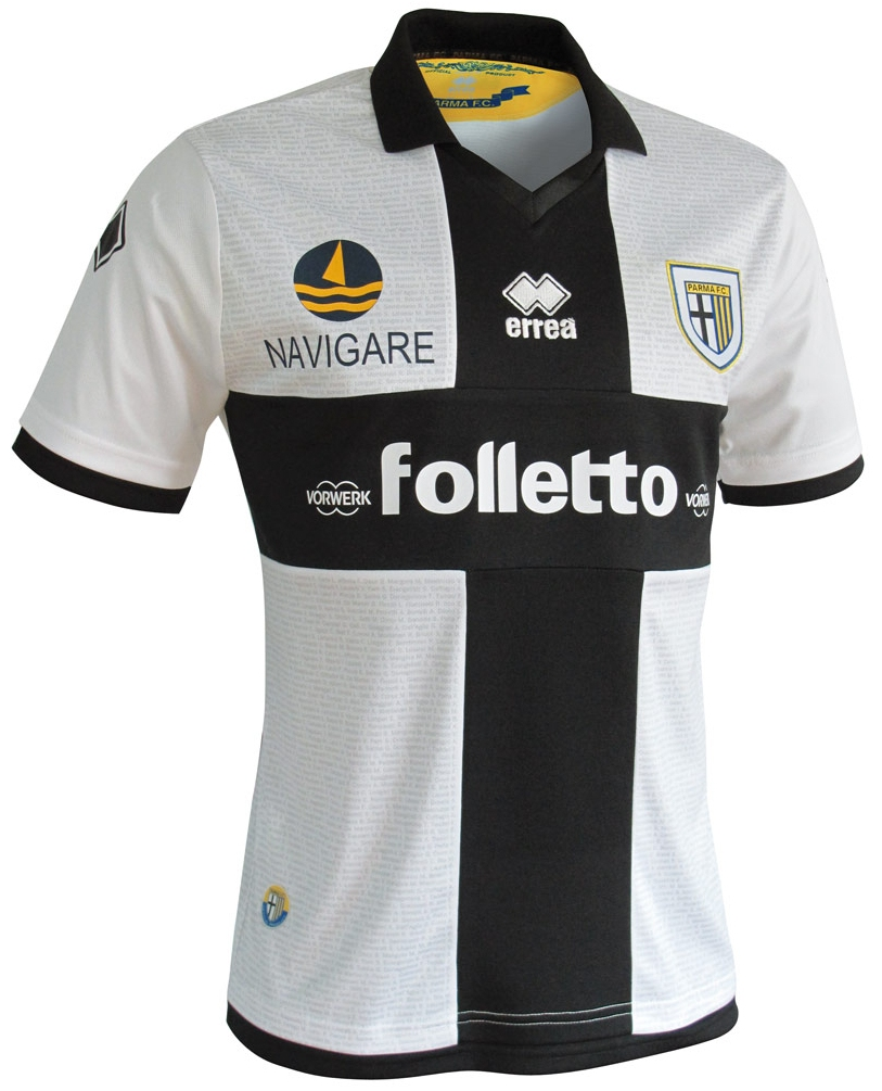5fa4ea861e Errea apresenta os novos uniformes do Parma - Show de Camisas