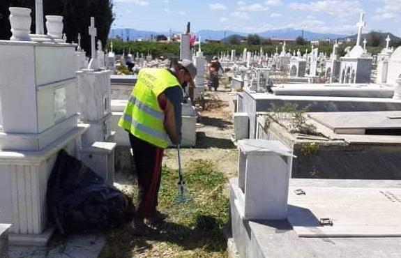 Δήμος Ναυπλιέων: Εργασίες καθαριότητας στο Κοιμητήριο του Δρεπάνου