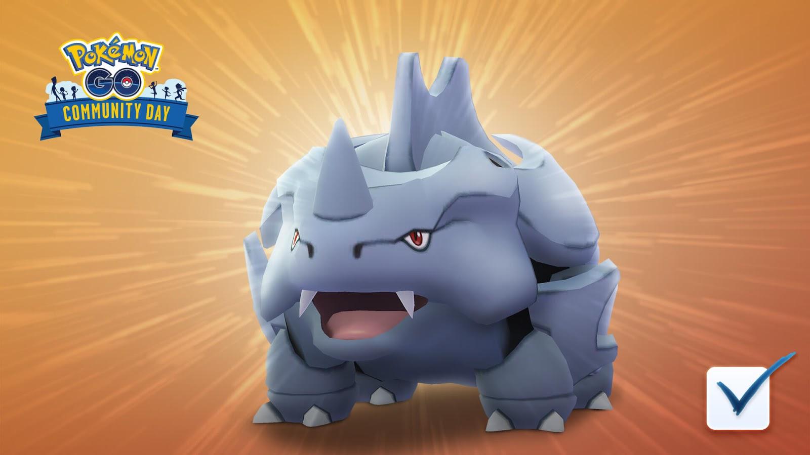 Rhyhorn Dia Comunitário Pokémon GO