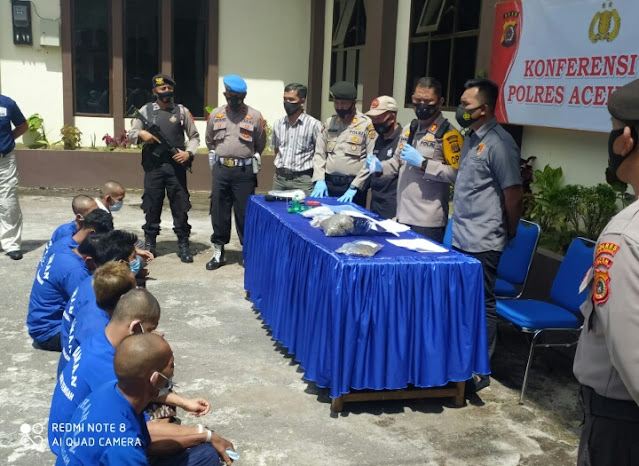 Delapan Orang di Amankan Polres Aceh Tengah Pengguna Narkoba