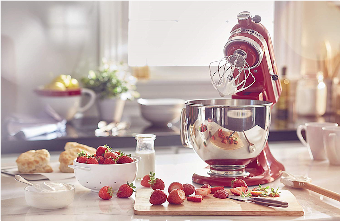 Tilt-Head Stand Mixer   Easily make your favorite cakes