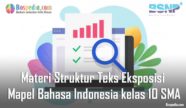 Materi Struktur Teks Eksposisi Mapel Bahasa Indonesia kelas 10 SMA/MA