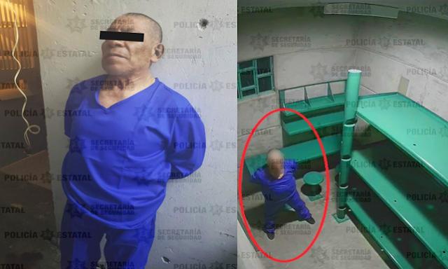 Fotos: Andrés el feminicida de Atizapán dentro de prisión, reos intentaron darle muerte y lo cambian de penal