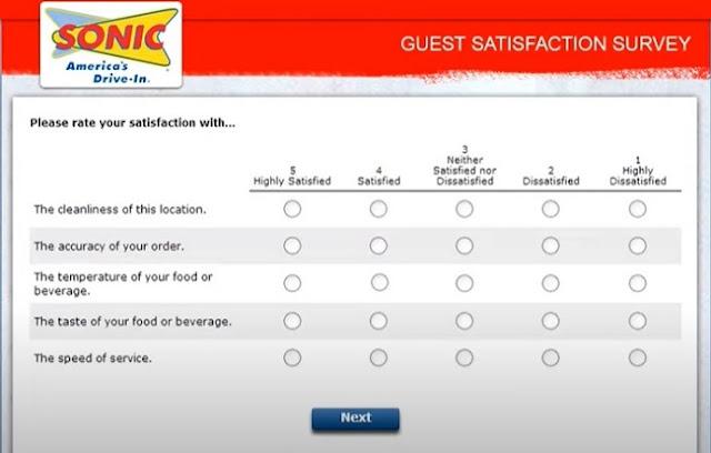 sonic www.talktosonic.com free drink survey