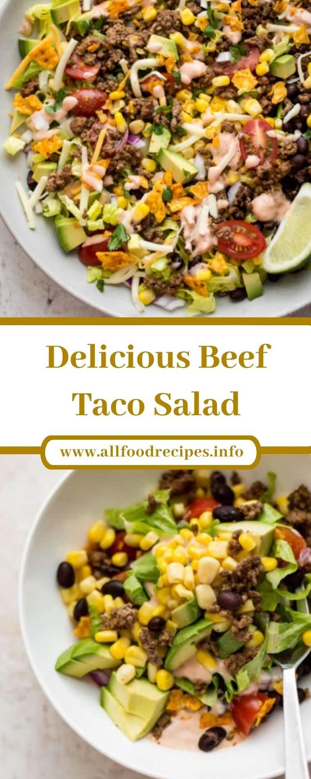 Delicious Beef Taco Salad