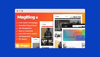 MagBlog Blogger Template free download |