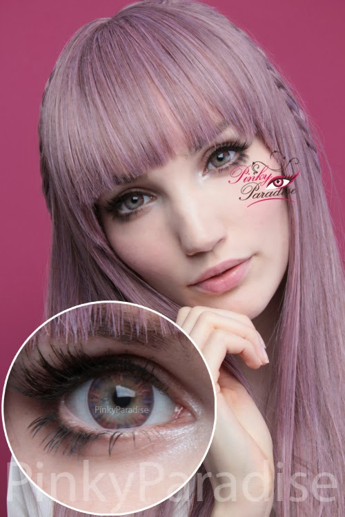 Vassen Rainbow Eyes Purplish Red On Light Eye Circle Lenses (Colored Contacts)