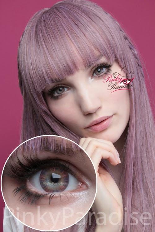 Vassen Rainbow Eyes Purplish Red On Light Eye Circle Lenses (Colored Contacts)