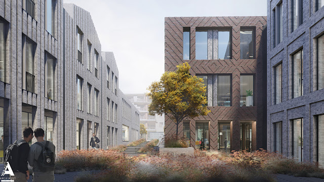 3D модель и визуализация современного офисного комплекса