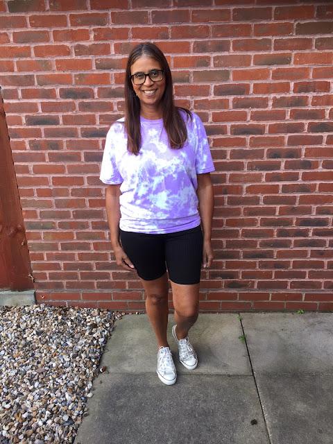 Black ribbed high waisted cycling shorts - Jenny