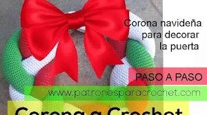 Corona de Navidad para decorar | Tutorial crochet