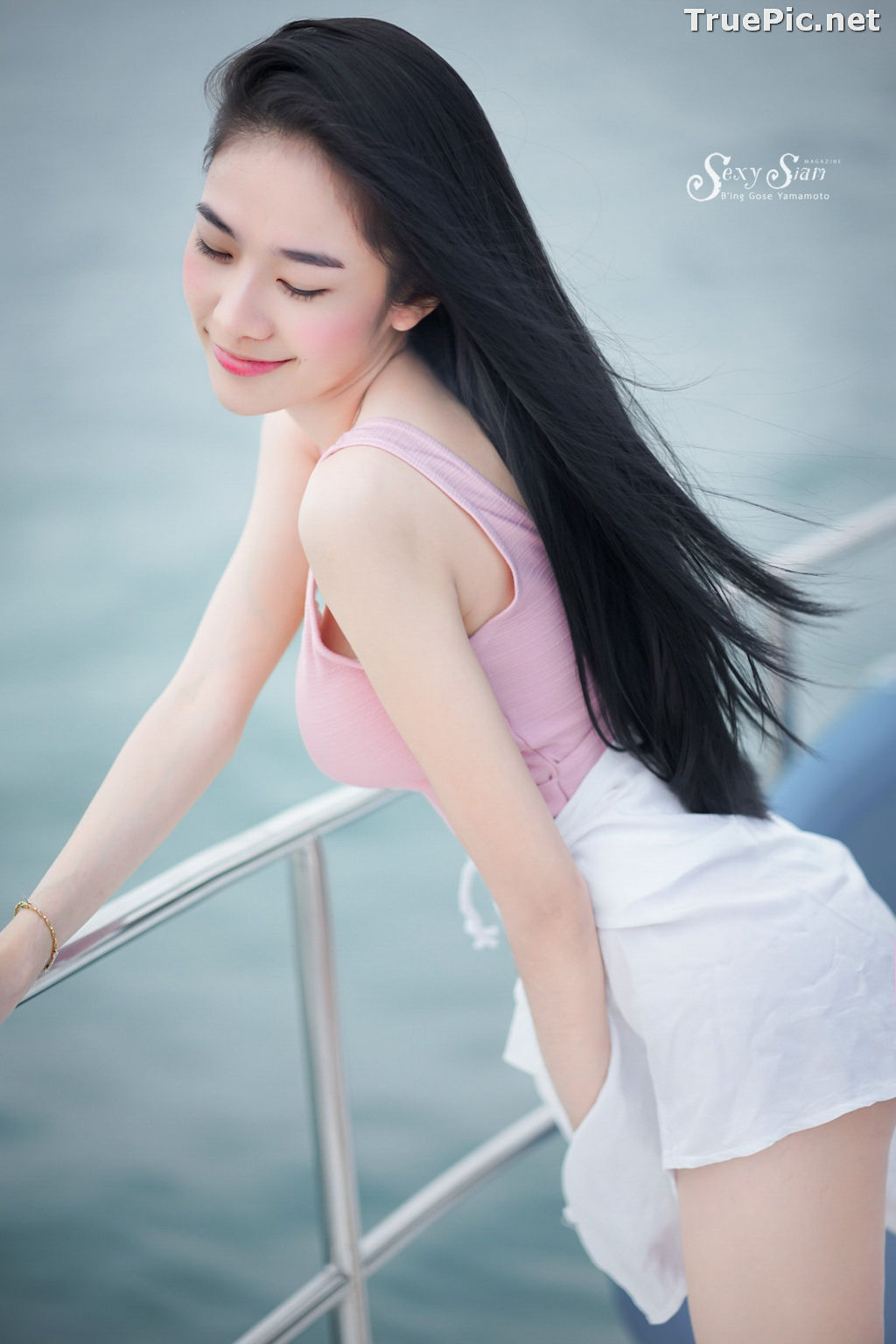 Image Thailand Model - Patcharin Srikunchai - Pink Monokini and Jean Pants - TruePic.net - Picture-3