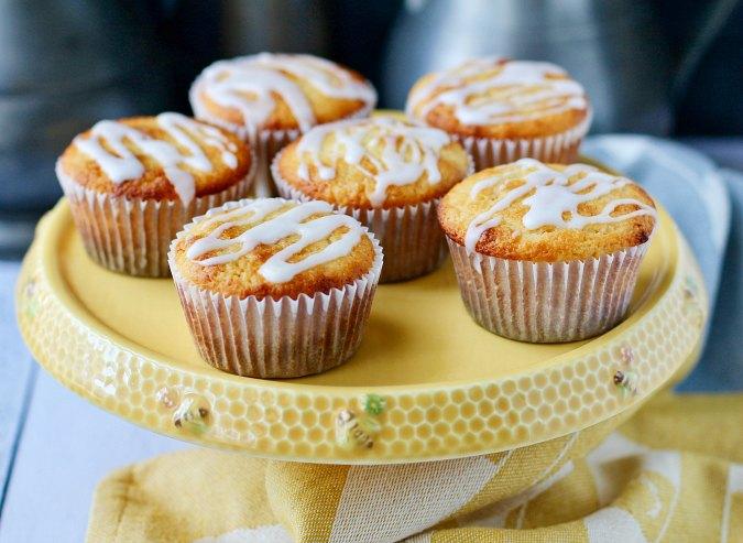 Lemonade Muffins with a lemon glaze