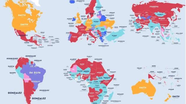 Geographical surnames of major countries of the world   विश्व के प्रमुख देशों के भौगोलिक उपनाम