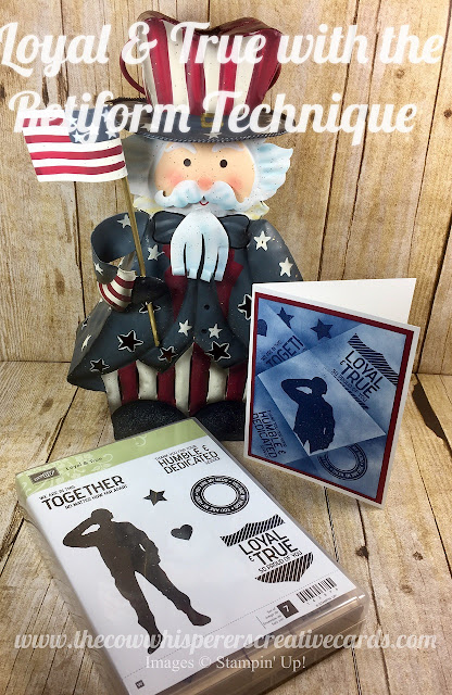 Loyal & True, Retiform, Card, 4th of July, Soldier