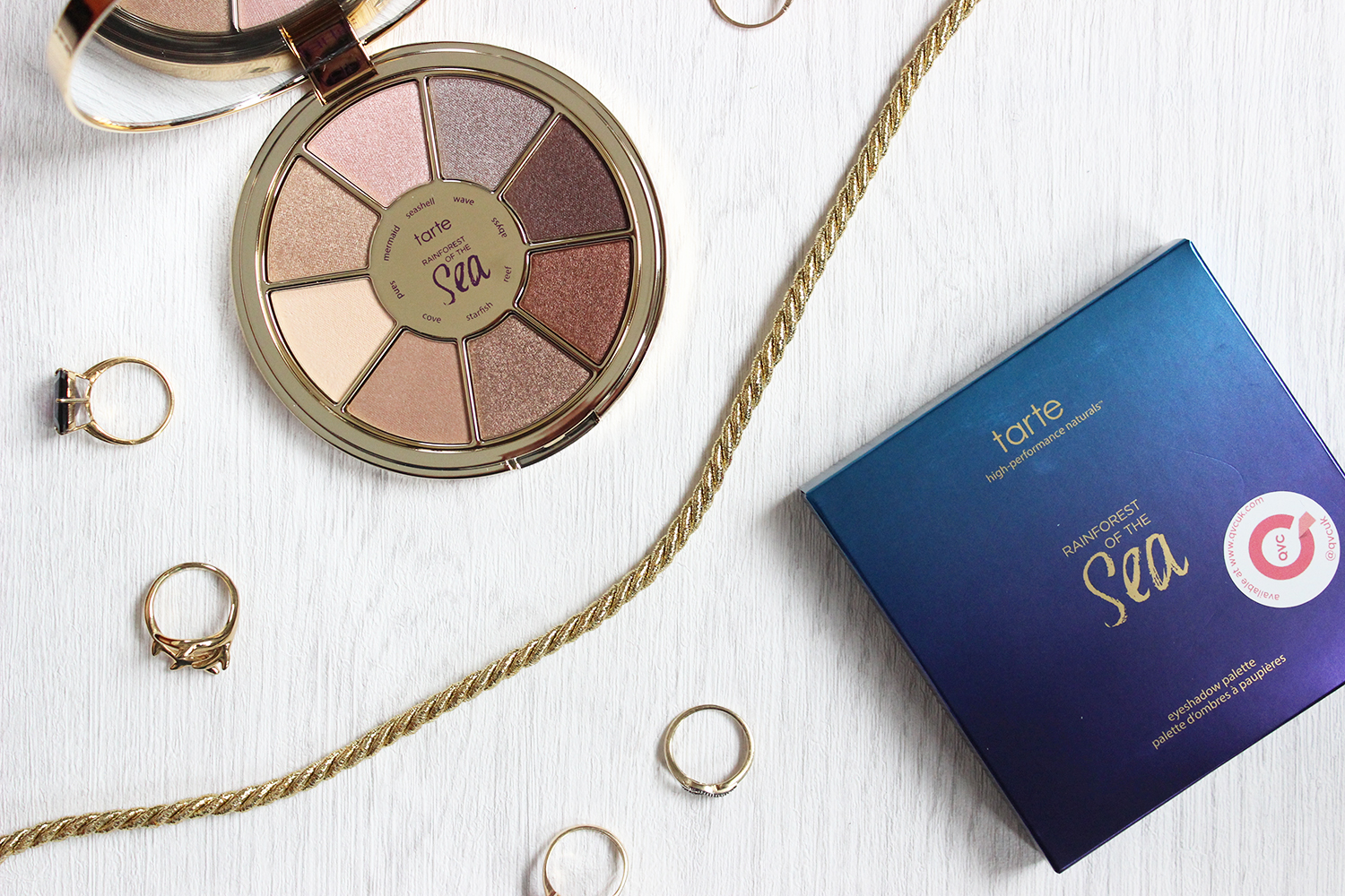 Tarte Rainforest of the Sea eye shadow palette review and swatches