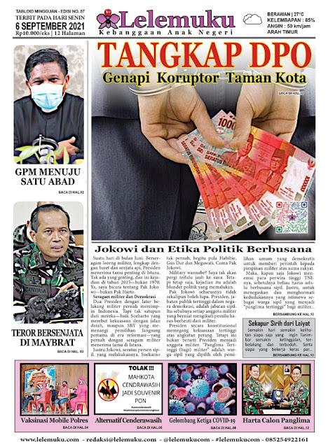 Tabloid Lelemuku #57 - Tangkap DPO - 4 September 2021