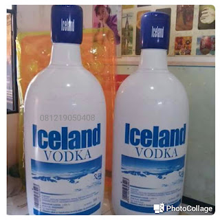 balon botol produk iceland vodka