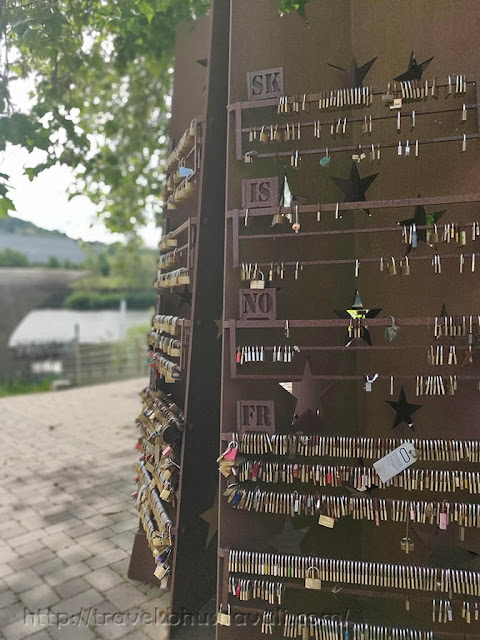 Places to visit in Schengen - Padlock for Schengen