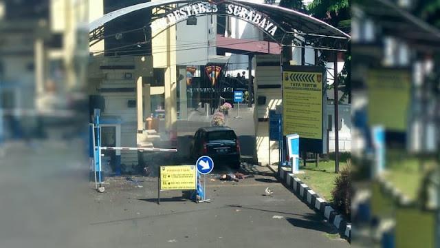 Detik-Detik Bom Bunuh Diri Pukul 08.15 di Polrestabes Surabaya